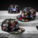 【月一メモリアルキャップ】MLB、NBA、NFL 全球団のロゴをキャップ全面に刺繍でレイアウトしたニューエラ 100周年記念モデル 3型が発売 (New Era 100th Monthly Limited)