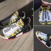"""【リーク/サンプル】イエローベースのPharrell Williams x adidas Originals NMD """"HUMAN RACE"""" 「3MP0W3R/1N5P1RE」 (ファレル・ウィリアムス アディダス オリジナルス エヌ エム ディー """"ヒューマン レース"""" 2018)"""