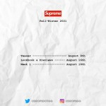 SUPREME 2021 FALL/WINTER 立ち上げは?スケジュール予定 (シュプリーム 2021年 秋冬)