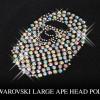 A BATHING APEからスワロフスキークリスタルでエイプヘッドをあしらったポロシャツ「SWAROVSKI LARGE APE HEAD POLO」が5/12発売 (ア ベイシング エイプ)