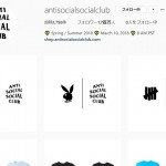 Anti Social Social Club SNSにてmasterind WORLD/PLAYBOY/UNDEFEATEDとのロゴが掲載!再コラボを示唆か? (アンチ ソーシャル ソーシャル クラブ)