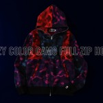 A BATHING APEからCOLOR CAMOをMIXして仕上げたフーディ「CRAZY COLOR CAMO FULL ZIP HOODIE」が9/21から発売 (ア ベイシング エイプ)