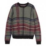 STUSSYから、アクリルやウール混紡のミックスモヘアが大判のタータンチェックをまとったクルーネックセーターなどの新作が発売 (ステューシー)