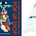 スケートブランド「Evisen skateboards エビセンスケートボード」×「SSZ」ポップアップショップがビームス ジャパン」にて8/24から開催!