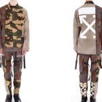 "異なるカモフラパターンを再構築した OFF-WHITE C/O VIRGIL ABLOH ""Reconstructed CAMO Field Jacket/Cargo Pant"" (オフホワイト)"