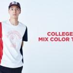 A BATHING APEから3カラーで切り替え、カレッジロゴを配したTシャツ「COLLEGE MIX COLOR TEE」が8/17発売 (ア ベイシング エイプ)