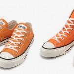 2/22発売!MADE IN JAPAN コンバース キャンバス オールスターのオレンジカラーアレンジモデル CANVAS ALL STAR J OX/HI (CONVERSE)