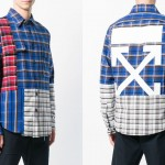 "マルチカラーのパッチワークシャツ OFF-WHITE C/O VIRGIL ABLOH ""MULTICOLOR RECONSTRUCTED CHECK SHIRT"" (オフホワイト)"