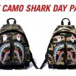 A BATHING APEからシャークモチーフが大胆にデザインされたデイパック「1ST CAMO SHARK DAY PACK」が11/16発売 (ア ベイシング エイプ)