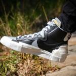 """【着用画像】Sacai x Nike Blazer Mid """"Black/Grey""""【サカイ x ナイキ 2019秋】"""
