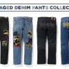 A BATHING APEからダメージ加工や刺繍などを施したデニムパンツ「DAMAGED DENIM PANTS COLLECTION」が2/15発売 (ア ベイシング エイプ)