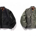 BEAMSからボディや袖などパーツによって微妙な色の差を出した「クレイジー MA-1」が2月中旬発売 (ビームス)