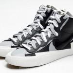 """【リーク】Sacai x Nike Blazer Mid """"Black/Grey""""【サカイ x ナイキ ブレザー ミッド】"""