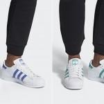 "adidas Originals SUPERSTAR ""White/Blue Violet/Green"" (アディダス オリジナルス スーパースター) [G27810,27811]"