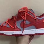 """【リーク】Off-White x Nike Dunk Low """"University Red""""【オフホワイト x ナイキ ダンク】"""