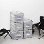 アトモスからインテリアに最適なオリジナル折りたたみ式コンテナケースが2/20 発売 (atmos Container 50ℓ)
