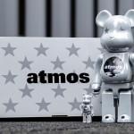 12/26 発売!BE@RBRICK × ATMOS WHITE CHROME Ver 100% & 400% (ベアブリック アトモス ホワイト クローム バージョン)
