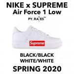 """【リーク】2020年 春発売予定!SUPREME × NIKE AIR FORCE 1 LOW """"Black/Black"""" """"White/White"""" (シュプリーム ナイキ エア フォース 1 ロー """"ブラック/ブラック"""" 2019 SPRING)"""
